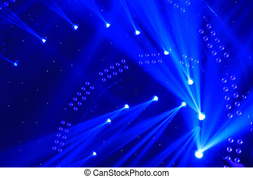 stage lighting effect in the dark, closeup photo - stage...