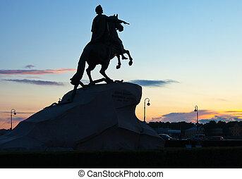 The Bronze Horseman in StPetersburg, Russia