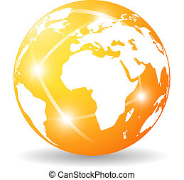 Glossy earth icon