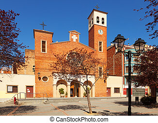 Parish Church of Sant Adria. Spain - Facade of the Parish...