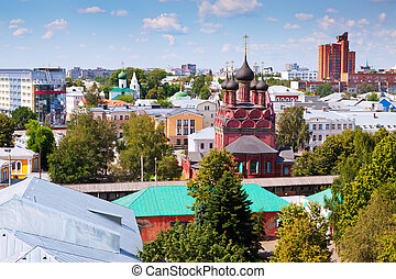 Top view of Yaroslavl - Top view of old district of...