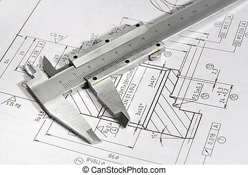 Engineering - Equipment for engineering - caliper and...