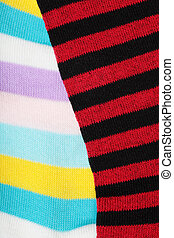 striped socks - detail of a striped wool socks