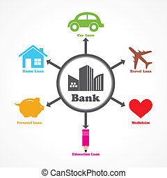 loans given by a bank stock vector