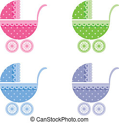 Baby buggy Vector illustration