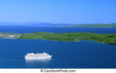 cruiser - cruise ship in Croatia
