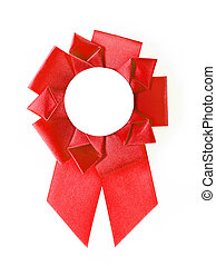 award rosette - red award rosette on a white background