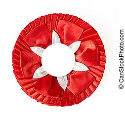 award rosette - red award rosette on a white background
