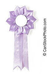 award rosette - purple award rosette on a white background