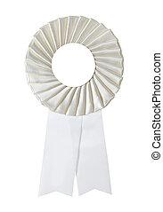 award rosette - white award rosette on a white background