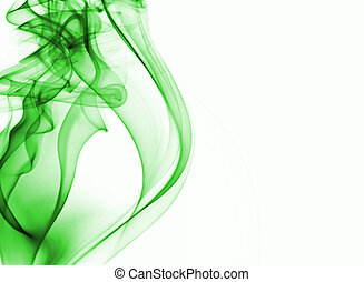 green smoke background with place for text