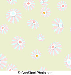 Bright seamless banner with flowers EPS 10 - Bright seamless...