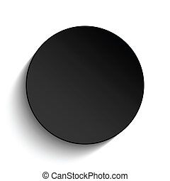 Black Circle Button on White Background