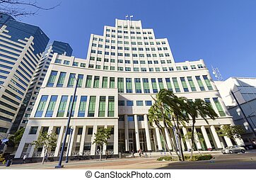 Hall of Justice, San Diego - The Hall of Justice courthouse,...