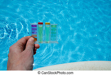 Pool water testing - Testing the quality of swimming pool...