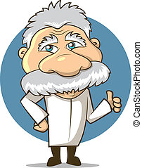 Science Character - Einstein Styled Cartoon Professor