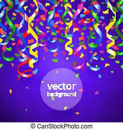 streamers and confetti background