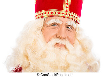 Close up of Sinterklaas on white background - Sinterklaas...