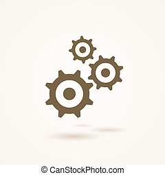 Set of three gears or cogs in different sizes - Set of three...