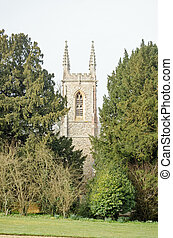 St Nicholas Church, Chawton, Hampsh - View from Chawton...