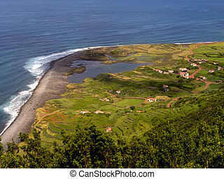 azores - village in azores coast at s jorge island