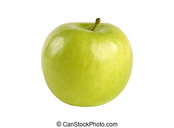 Green appel isolated on white.