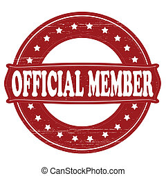 Official member - Stamp with text official member...