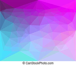 Polygon abstract pattern background in flat color