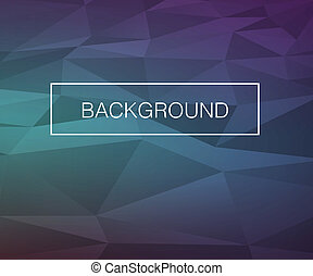 Vector Triangle Cold Background