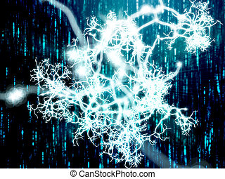 Neural network - Illustration of a neural network carrying...