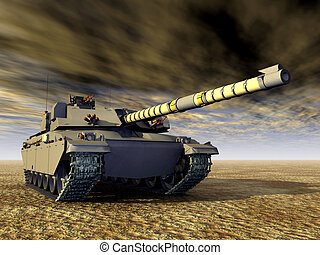 British Main Battle Tank - Computer generated 3D...