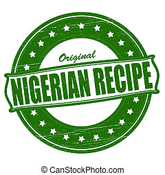 Nigerian recipe - Stamp with text Nigerian recipe...