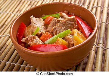 beef kaldereta - popular dish in the Philippines, especially...