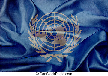 United Nations grunge waving flag