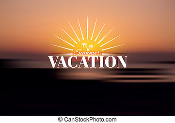 Summer vacation vector background. Creative poster design