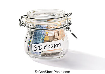 Saving for the electricity costs - Preserving jar with...