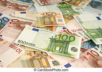 Many banknotes