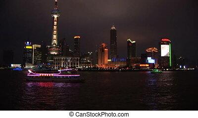 Shanghai, Pudong - China, Shanghai, Pudong, Huangpu River,...