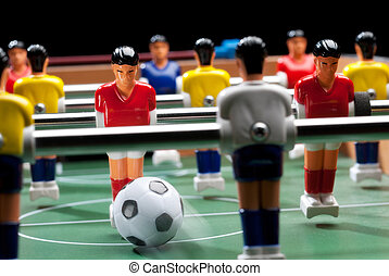 Table soccer. - Detail of a table soccer game.