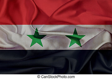 Syria grunge waving flag