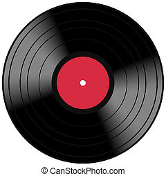 Vector Vinyl Lp Album Disc - Vintage music record concept...