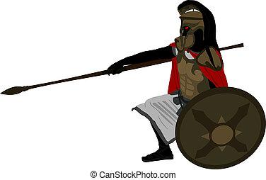 fantasy warrior. second variant. raster