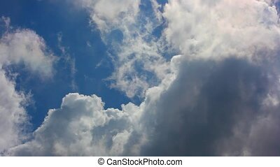 Moving clouds and blue sky Closing sky cloud 1920*1080