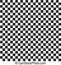 Checkered flag background. Seamless chessboard. - Checkered...