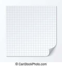Cell page sheet. Sheet of graph paper. Grid texture. - Cell...