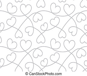 Hearts background Valentines Day Seamless texture - Hearts...