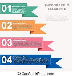 Vector illustration stitching infographic element design with colors and area for text