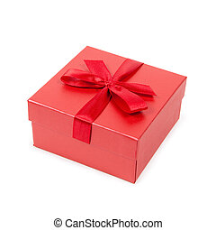 Fancy box, isolated against white background - Red fancy...