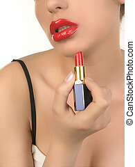 Closeup Makeup - Beautiful Lips and Mekeup