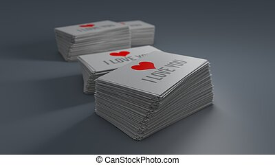 Business cards isolated with soft shadow